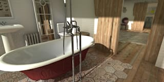 Mountain house: Baños de estilo rústico de Blophome