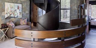 Contemporary Mountain Chalet: modern Corridor, hallway & stairs by Andrea Schumacher Interiors