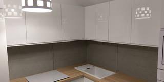 Beton architektoniczny jako okładzina w kuchni: styl , w kategorii Kuchnia zaprojektowany przez LUXUM