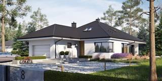 Tanita II G2 - nowoczesny dom, który uwodzi przytulnością! : styl , w kategorii Dom jednorodzinny zaprojektowany przez Pracownia Projektowa ARCHIPELAG