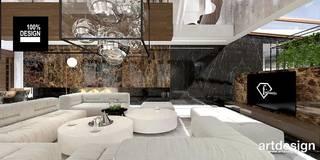 TAKE THE PLUNGE! | I | Wnętrza rezydencji | Projekt salonu: styl , w kategorii Salon zaprojektowany przez ARTDESIGN architektura wnętrz