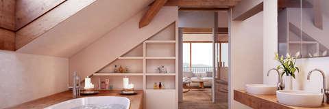 badezimmer ideen dachgeschoss, luxus badezimmer   homify, Design ideen