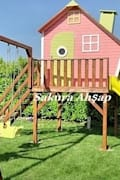 Sakura Ahşap – Tarçın Oyun Evi -Ön cebhe: modern tarz Bahçe