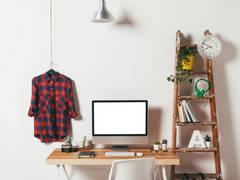 Zdjęcie w tle: styl , w kategorii Domowe biuro i gabinet zaprojektowany przez Luiza Sadowska