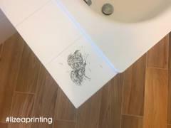 Piastrella decorata con stampa digitale:  in stile  di lizea sas