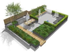 Creffield House London:  Roof terrace by Aralia