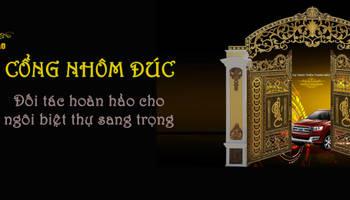 Cổng nhôm đúc:  Biệt thự by Cổng nhôm đúc Thiên Thanh Bảo