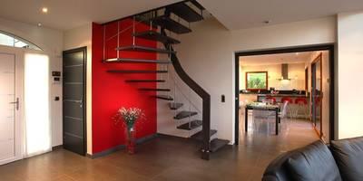 Pasillos, vestíbulos y escaleras de estilo moderno de ASCENSO