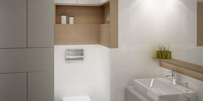 Mieszkanie łapy: styl , w kategorii Łazienka zaprojektowany przez Anna Wrona