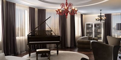 Изысканная неоклассика: Гостиная в . Автор – ММ-design