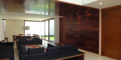 Casa AA: Salas de estilo moderno por ze arquitectura