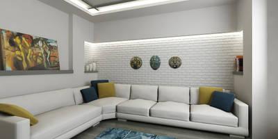 Salas de estar modernas por Niyazi Özçakar İç Mimarlık