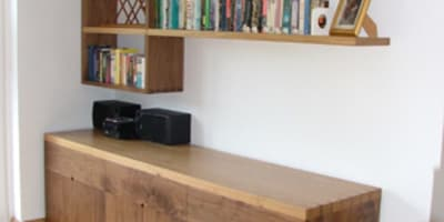 Bespoke Sideboard & Offset Shelving: modern Dining room by Future Antiques