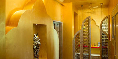 eclectic Corridor, hallway & stairs by The Orange Lane