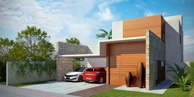 Casas modernas por Tony Santos Arquitetura