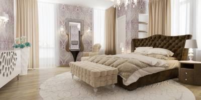 Спальня с кабинетом : Спальни в . Автор – pashchak design