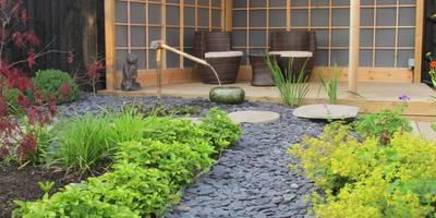 Zen Inspired Garden, Bradley Stoke: asian Garden by Katherine Roper Landscape & Garden Design