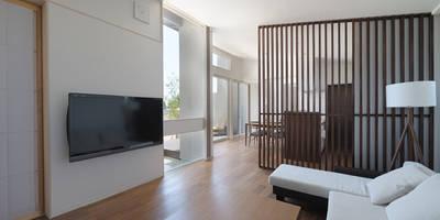 ห้องนั่งเล่น by 矩須雅建築研究所