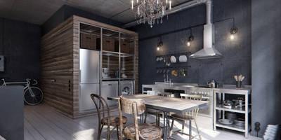 Cocinas de estilo industrial por INT2architecture