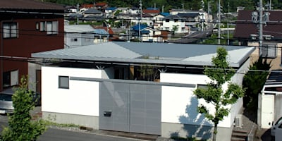 すり鉢状の屋根が特徴的な外観: 土居建築工房が手掛けた家です。