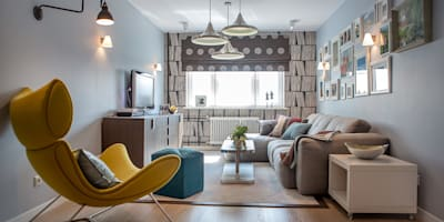 scandinavian Living room by Фотограф Анна Киселева