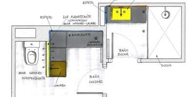 BAÑO EN DOS ESTANCIAS_Propuesta MIKELY:  de estilo  de  MIKELY Decoradores de Interiorismo