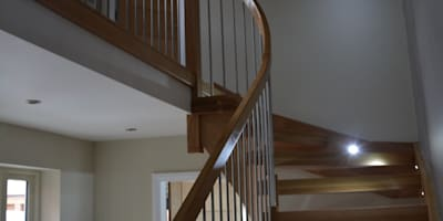 Handrail: country Corridor, hallway & stairs by Sovereign Stairs