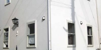 外観: (株)ハウスオブポタリーが手掛けた家です。
