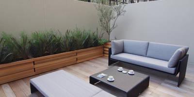 ガーデンテラスのあるオフィス: Style is Still Living ,inc.が手掛けたバルコニー&テラスです。