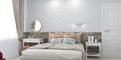 skandinavische Schlafzimmer von Ekaterina Donde Design