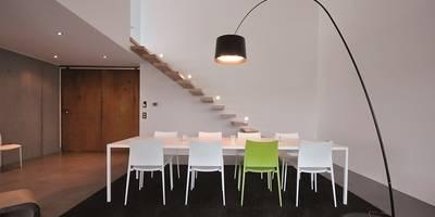 Haus D - Stutensee: minimalistische Esszimmer von lc[a] la croix [architekten]
