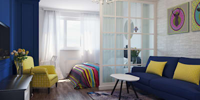 Квартира для аренды: Гостиная в . Автор – Оксана Мухина