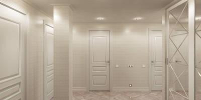 Квартира с мансардой: Коридоры, прихожие, лестницы в . Автор – Александра Кудрявцева