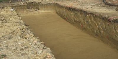 Hole Dug for the Pool:   by XL Pools Ltd
