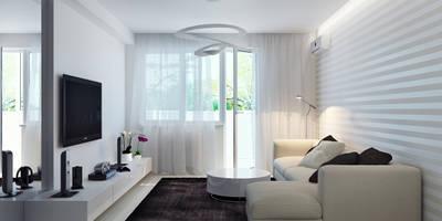 Квартира для современной пары: Гостиная в . Автор – Оксана Мухина