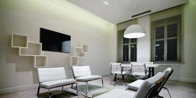 WATERLAND: styl , w kategorii Przestrzenie biurowe i magazynowe zaprojektowany przez INSPACE