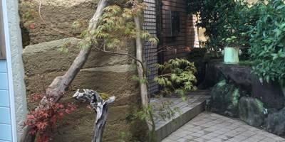 版築土塀+溜り: 株式会社 髙橋造園土木  Takahashi Landscape Construction.Co.,Ltdが手掛けたです。