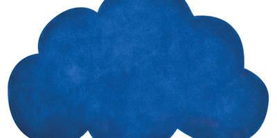 Tapis chambre de bébé en forme nuage couleur : bleu :  de style  par Lilipinso
