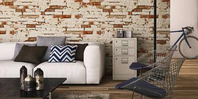 Azulejos para fachadas o paredes de estilo piedra: Paredes y suelos de estilo rústico de INTERAZULEJO