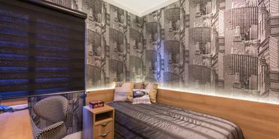 Dormitorio NYC: Quartos  por Lo. interiores