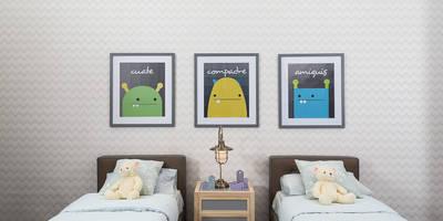 Recámara infantil con accesorios decorativos:  de estilo  por MARIANGEL COGHLAN