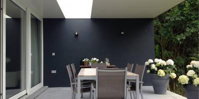 Verbouwing en interieur YJWS Maaseik:  Terras door 2architecten