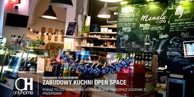 Widok ogólny na open space: styl , w kategorii Gastronomia zaprojektowany przez OnlyHome