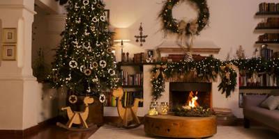 Después de la sala adornada para Navidad.:  de estilo  por MARIANGEL COGHLAN