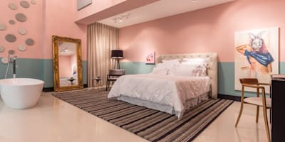Suite Candy Colors:   por Jean Felix Arquitetura