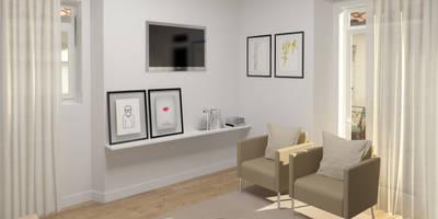 Apartment in Belém, Lisbon: Salas de estar escandinavas por Lagom studio