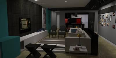 eclectic Living room by Studio 15 Arquitetura