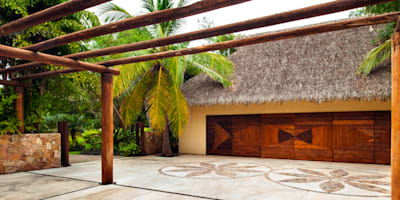 Paredes y pisos de estilo topical por BR  ARQUITECTOS