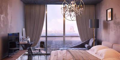 ЖК Дом на Мосфильмовской: Спальни в . Автор – ROOMDESIGNBÜRO
