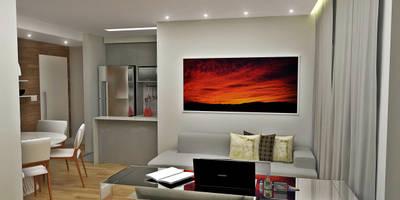minimalistic Living room by Atelier Par Deux